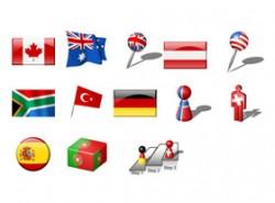 加拿大,澳大利亚,国旗,德国,小人,棒棒糖,医疗,十字架,楼梯