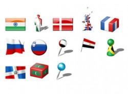 国旗,小人,棒棒糖,医疗,十字架,地标,坐标