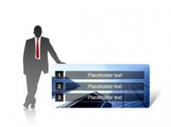 商务人物目录PPT目录模板