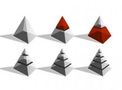 金字塔,立体,3D,1,2,3,4,5,6