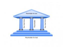 希腊神庙,古老,柱子,三角,楼梯