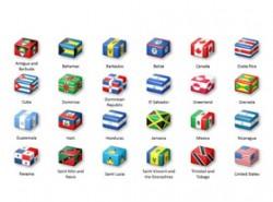 世界,国旗,各国国旗,美国国旗,巴西国旗,加拿大,国家