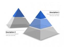 金字塔,立体,矢量,2,3
