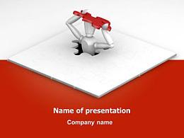 商务,商业小人,红色,拼图,面具,创意,突破,进步,总结,韩国模板