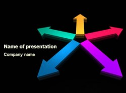 商务,商业,5,箭头,分散,创意,IT,韩国模板,彩色
