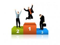 冠军台,领奖台,颁奖台,奖项,得奖,荣誉,商务,小人,飞起来,跳起来,公文包,公事包,沮丧,高兴,兴高采烈,举手,跳高,剪影