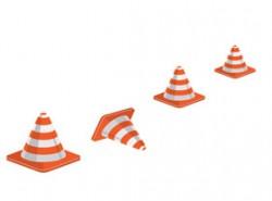 路障,雪糕筒,提示,危险,施工,修路