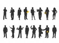 人物,剪影,男女,商务,文件夹,老师,帅气,握手