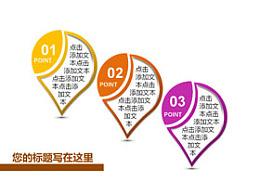 3,3部分,步骤,要点,介绍,关键,重点,立体,质感,3D,顺序,个性化图形,坐标,地标
