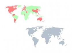 PPT地图,世界地图,矢量地图,可编辑地图,全球各国地图