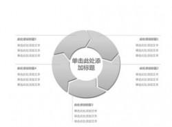 立体,3d,循环,流程,逻辑,阶段,首尾相连,循环利用,箭头,核心,5
