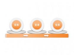 箭头,3D,立体,步骤,3,顺序,盘子,圆圈