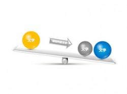 3D,立体,4,跷跷板,小球,箭头,重量,中心,偏重,天平