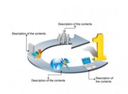 数据,3D,立体,金属感,工业感,4步骤,4阶段,01,no.1,箭头,循环,递进,电脑,网络,卫星,房子,基站,小人