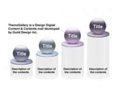 数据,3D,立体,金属感,工业感,4步骤,4阶段,要点,柱形图,小球,进阶,上升