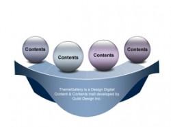 数据,3D,立体,金属感,工业感,4步骤,4阶段,4要点,小球,台面,展台,展示