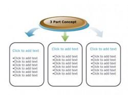 SmartArt,图表,立体,3D,质感,商务,箭头,总分,3