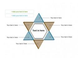 3D,立体,质感,箭头,6,总分,逻辑,组成部分,解析说明,六角形