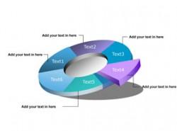 3D,立体,箭头,质感,水晶,饼状图,数据,数值,可视化