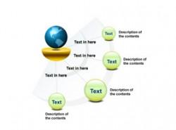 3D,立体,4部分,4,圆形,水晶,网络,网络营销,地球,网络覆盖