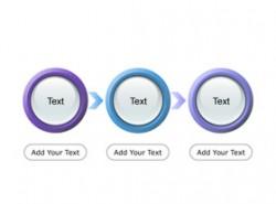 3D,立体,按钮,水晶按钮,3要点,流程,顺序,箭头,步骤,递进