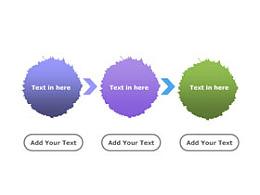 3要点,流程,顺序,箭头,步骤,递进,箭头,个性,水墨,毛边