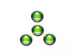 3D,水晶,3部分,总分,小球,立体球