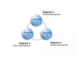 3D,立体,3部分,步骤,3要点,循环,按钮,图标