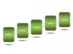 3D,立体,5部分,步骤,5要点,时间顺序,时间发展,公司历史,公司发展,框架图,架构图