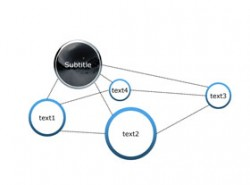 3D,立体,4部分,4要点,结构,组织架构,框架,结构图,网络,企业布局
