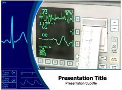 医学医药行业蓝色仪器仪表PPT模板