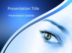 医学医药行业蓝色眼睛治疗PPT模板