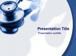 医学医药行业医疗听诊器PPT模板