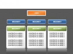 moonkey水晶组织架构PPT素材
