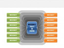 moonkey水晶发散性组织架构PPT素材