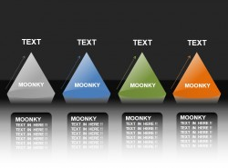 moonkey四个并列关系锥形PPT素材