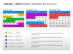 多色彩日历,时间安排表,排班表