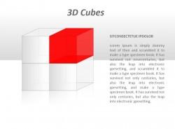 透明立方体的四分之一