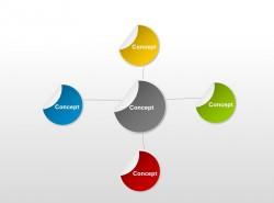 个性创意多色彩贴纸结构图
