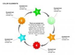 六步骤圆形循环图