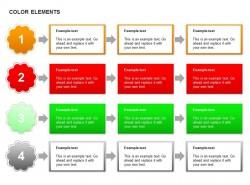 四部分方形递进步骤图