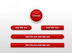 红色圆角立体按钮组