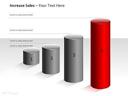 红色圆形柱状图