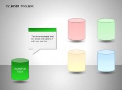 绿色圆柱体图示文本框说明