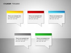 五部分右侧箭头对话文本框