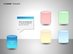 蓝色圆柱体图示文本框说明