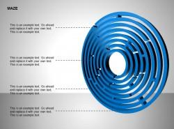侧看圆形立体迷宫图示说明