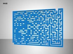 侧看方形迷宫图示说明