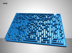 侧放方形迷宫图示说明