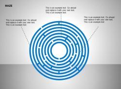 蓝色圆形迷宫图示说明